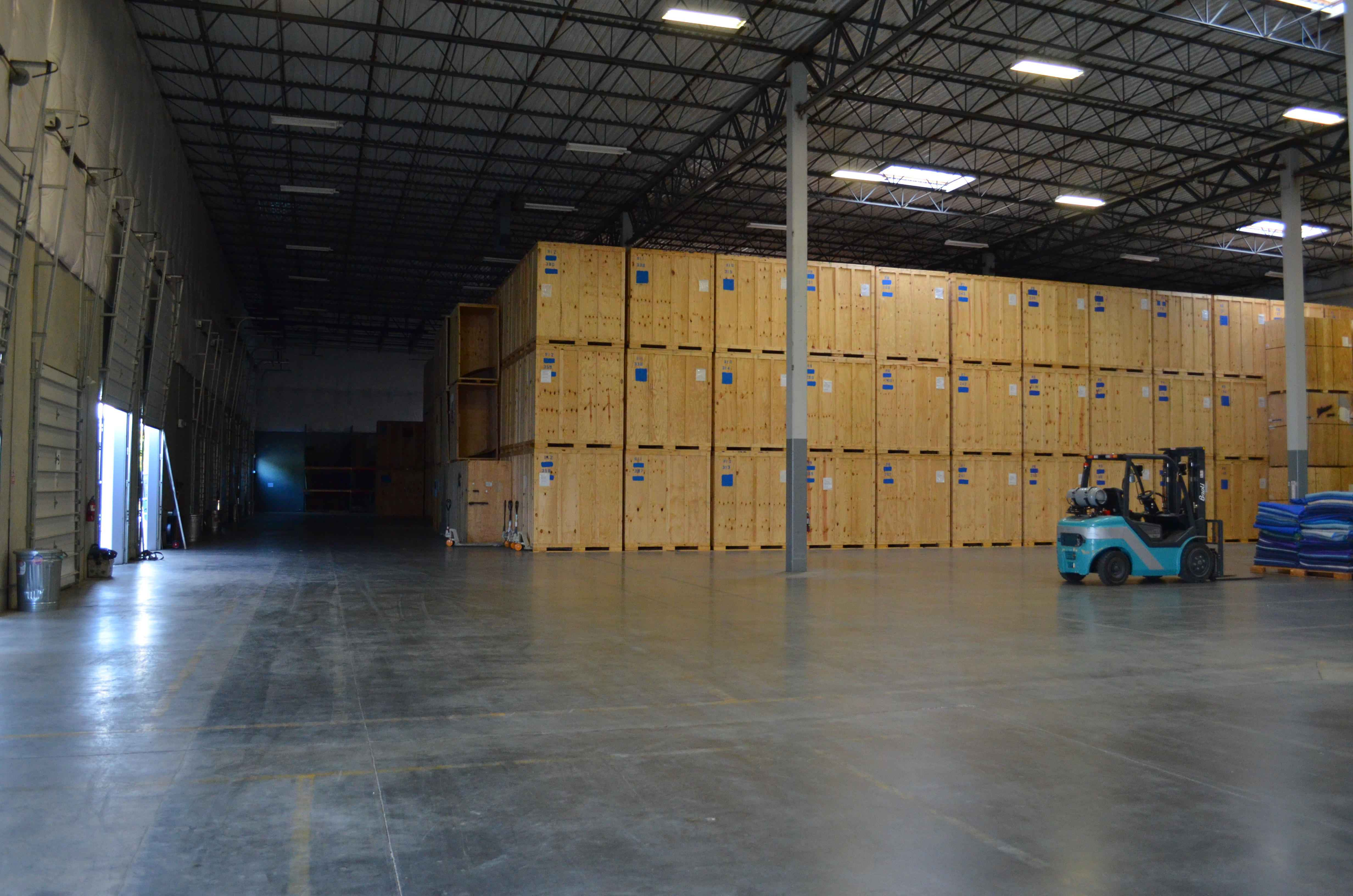 Geva warehouse stacked containers